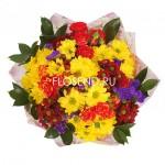 Букет с хризантемами и другими цветами